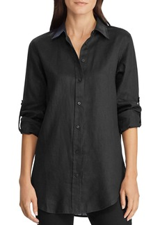 Lauren Ralph Lauren Linen Roll-Tab Button-Down Shirt