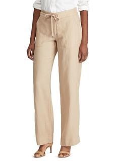 Lauren Ralph Lauren Linen Wide-Leg Pants