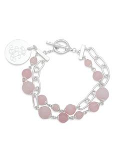 Lauren Ralph Lauren Link and Stone Double Strand Pendant Bracelet