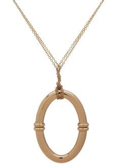 """Lauren Ralph Lauren Link Hoop Pendant Necklace, 36"""""""
