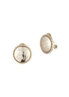 Lauren Ralph Lauren Logo Button Clip-On Earrings