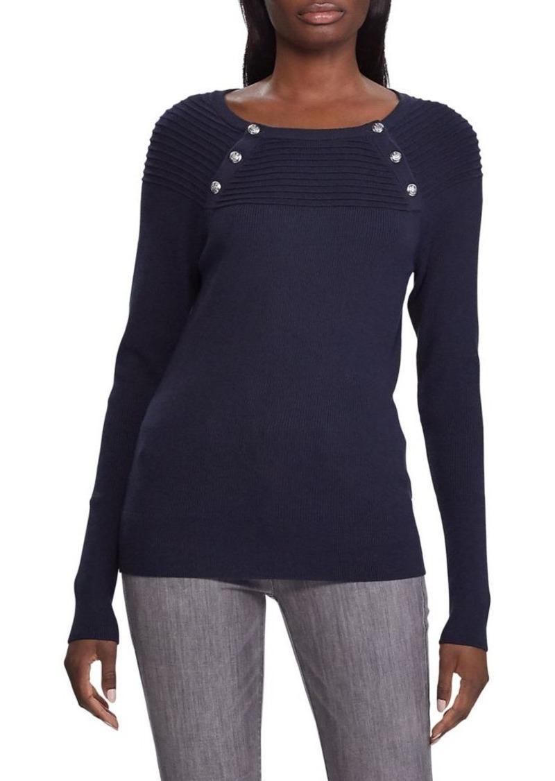 Lauren Ralph Lauren Logo Cotton-Blend Sweater