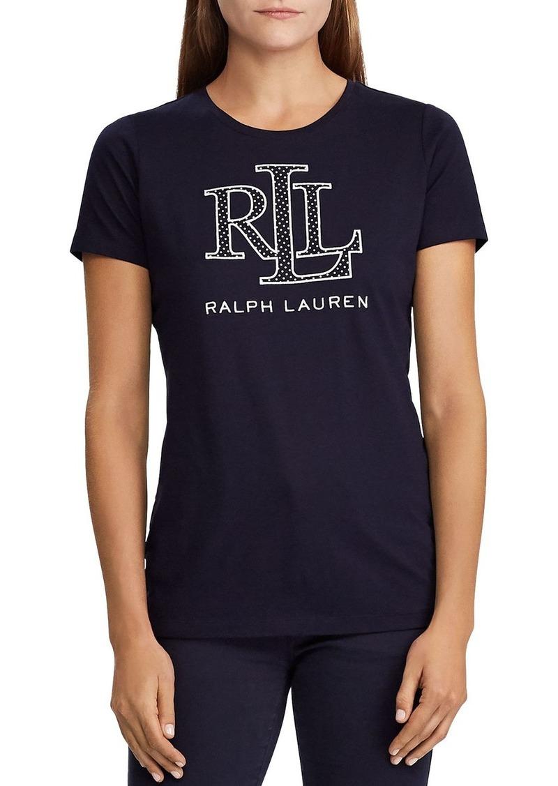 Lauren Ralph Lauren Logo-Crest Graphic Tee