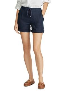 Lauren Ralph Lauren Logo-Drawcord Linen Shorts