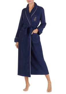 Lauren Ralph Lauren Logo Fleece Long Robe