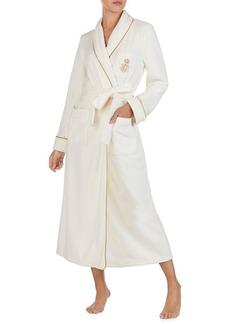 Lauren Ralph Lauren Logo Fleece Long Robe