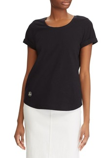 Lauren Ralph Lauren Logo Patch Cotton Tee