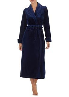 Lauren Ralph Lauren Logo Velvet Long Robe
