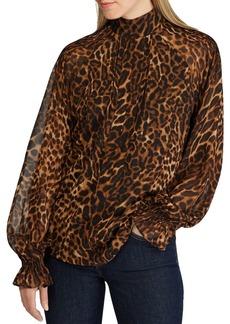 Lauren Ralph Lauren Long-Sleeve Animal-Print Top