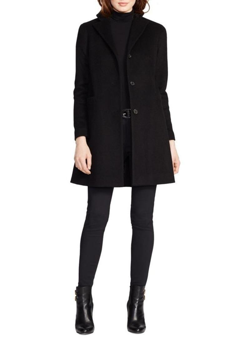 b0eb4dcfe827 Ralph Lauren Lauren Ralph Lauren Wool-Blend Three-Button Coat ...