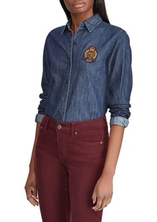 Lauren Ralph Lauren Long-Sleeve Denim Shirt