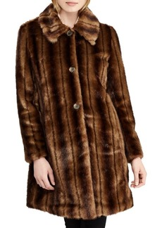 Lauren Ralph Lauren Long-Sleeve Faux Fur Coat