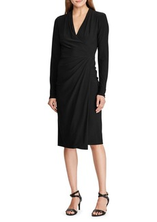 Lauren Ralph Lauren Long-Sleeve Faux Wrap Jersey Dress