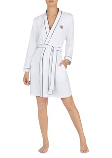 Lauren Ralph Lauren Long Sleeve Short Robe
