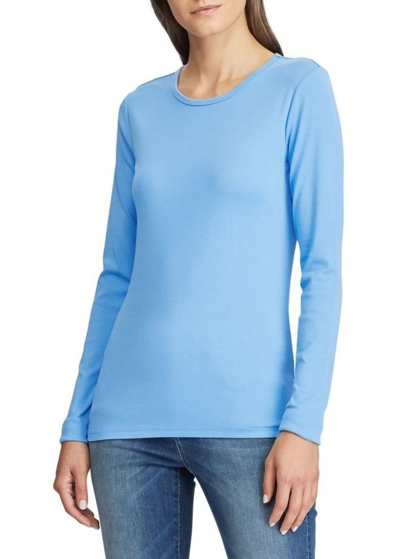 Lauren Ralph Lauren Long-Sleeve Stretch Tee