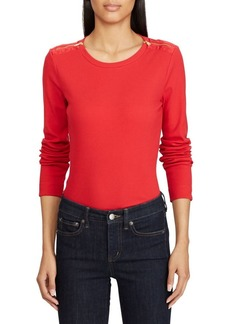 Lauren Ralph Lauren Long-Sleeve Stretch Top