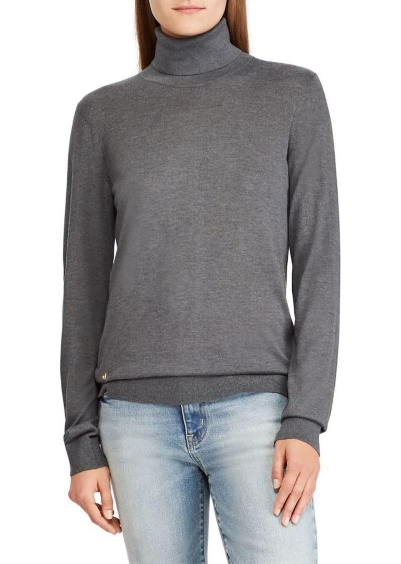 Sleeve Sweater Lauren Ralph Turtleneck Long aXUncqR