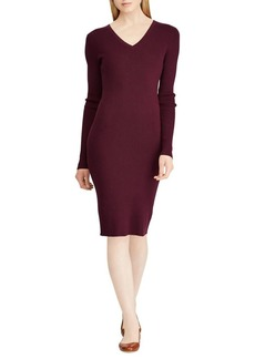 Lauren Ralph Lauren Long-Sleeve V-neck Bodycon Dress