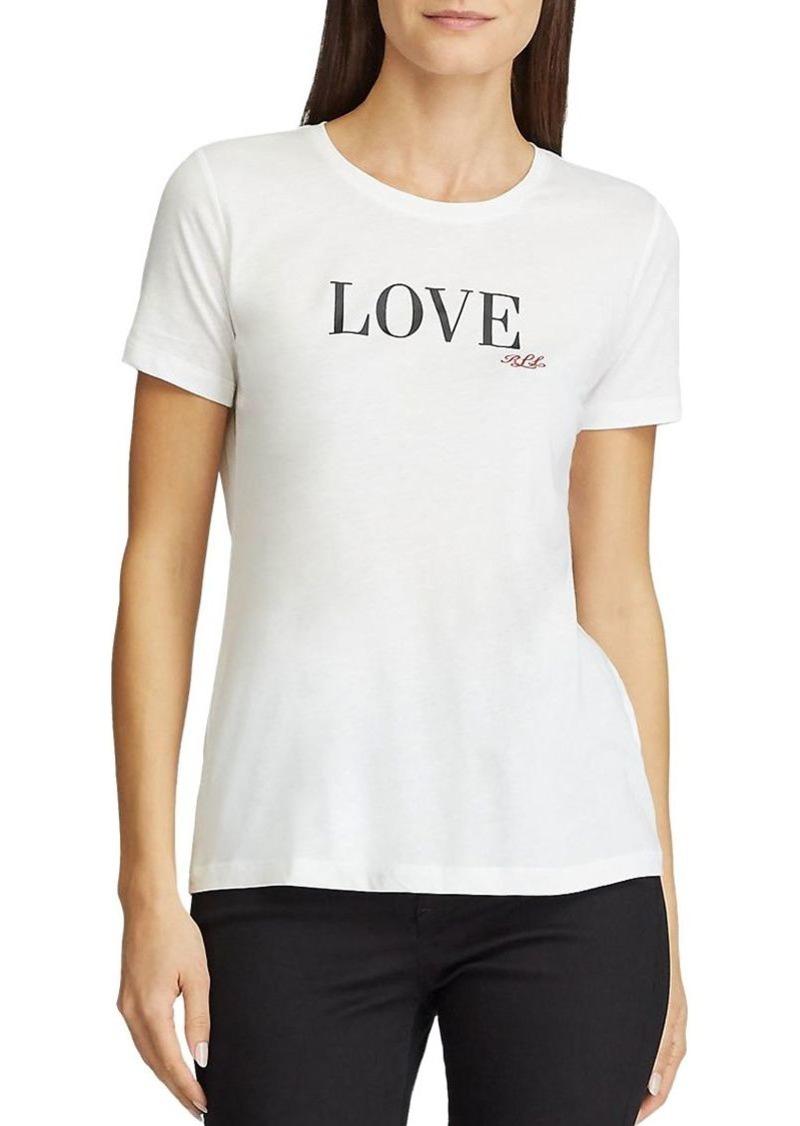 Lauren Ralph Lauren Love Logo Tee