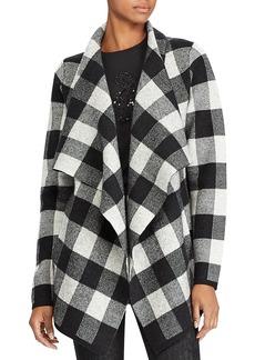 Lauren Ralph Lauren Merino Wool Plaid Open-Front Jacket