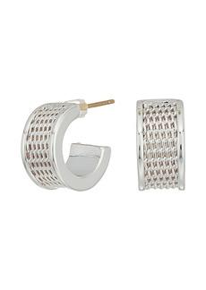 Ralph Lauren Mesh Huggie Hoop Earrings