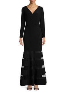 Lauren Ralph Lauren Mesh Insert Maxi Dress