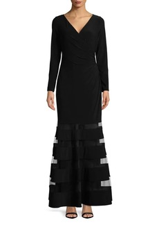 Lauren Ralph Lauren Mesh Insert Maxi Dress