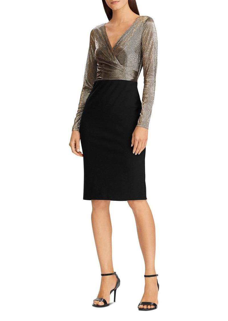 Lauren Ralph Lauren Metallic & Jersey Dress