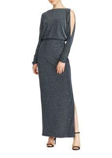 Lauren Ralph Lauren Metallic Chevron Evening Gown
