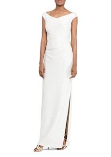 Lauren Ralph Lauren Metallic Foil Gown