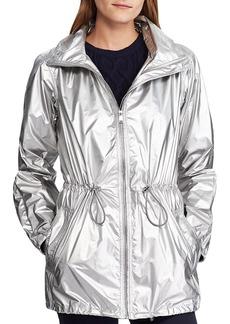 Lauren Ralph Lauren Metallic Hooded Zip Jacket