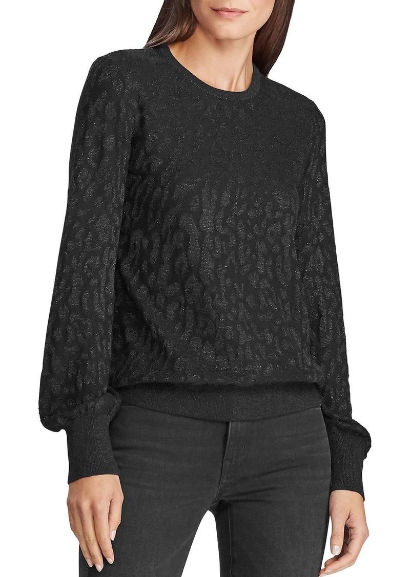 Lauren Ralph Lauren Metallic Jacquard Sweater