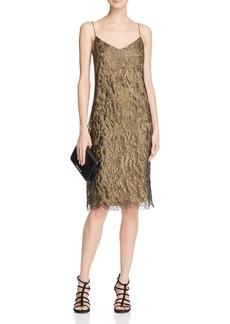 Lauren Ralph Lauren Metallic Lace Slip Dress - 100% Bloomingdale's Exclusive