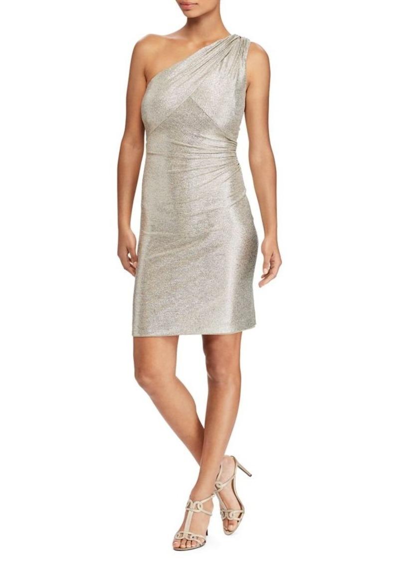 Ralph Lauren Lauren Ralph Lauren Metallic One-Shoulder Dress | Dresses