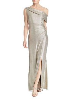 Lauren Ralph Lauren Metallic One-Shoulder Gown - 100% Exclusive
