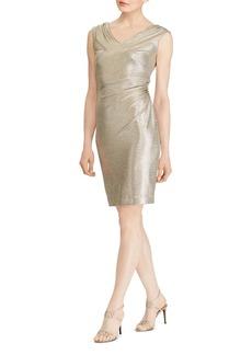 Lauren Ralph Lauren Metallic Ruched Dress