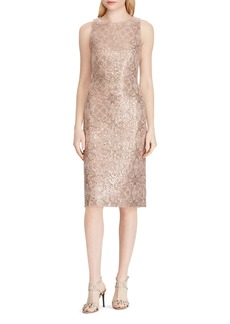 Lauren Ralph Lauren Metallic Sequined Dress