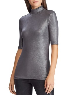 Lauren Ralph Lauren Metallic Turtleneck Top