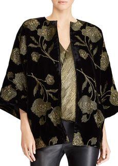 Lauren Ralph Lauren Metallic Velvet Kimono Jacket