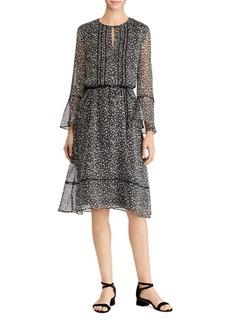 Lauren Ralph Lauren Micro-Floral-Print Georgette Dress