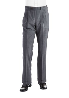 Lauren Ralph Lauren Mid-Weight Pleated Wool Pants