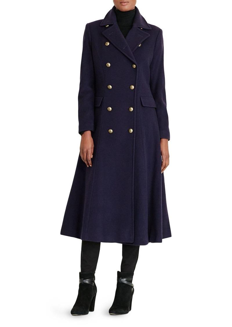 Lauren Ralph Lauren Military Button Maxi Coat