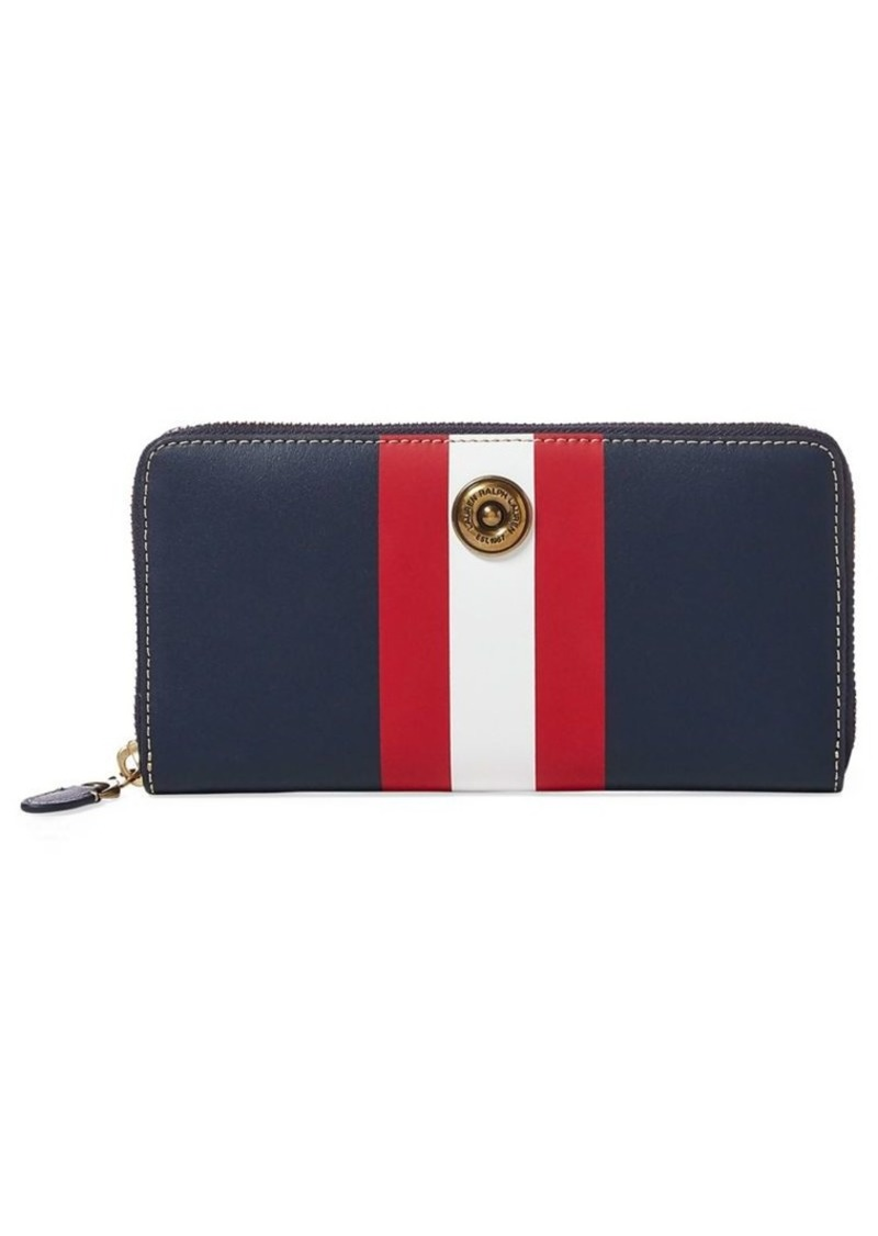 e063ab053df1 Ralph Lauren Lauren Ralph Lauren Millbrook Striped Zip Wallet