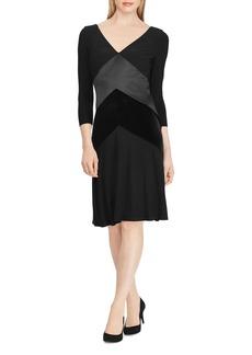 Lauren Ralph Lauren Mixed-Media Dress