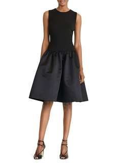 Lauren Ralph Lauren Mixed Media Fit-and-Flare Dress