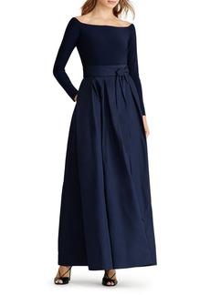 Lauren Ralph Lauren Mixed Media Gown