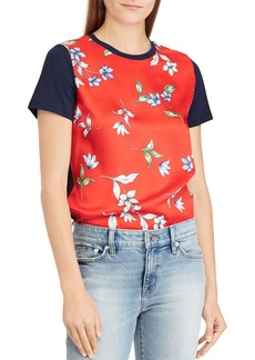 Lauren Ralph Lauren Mixed Media Tee