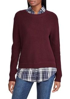 Lauren Ralph Lauren Mock-Layered Long-Sleeve Sweater