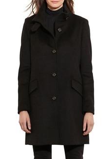 Lauren Ralph Lauren Mockneck Buttoned Coat