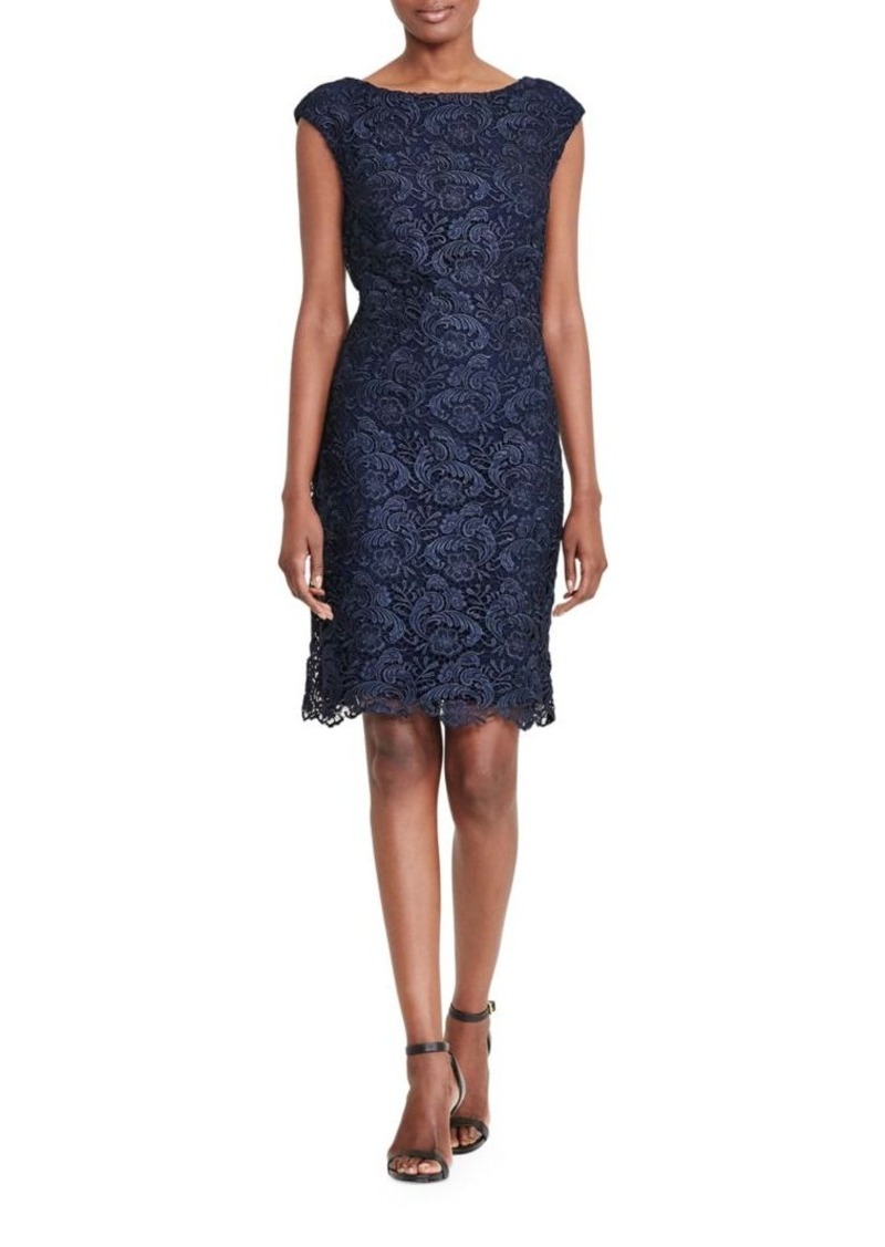 Lauren Fl Lace Sheath Dress